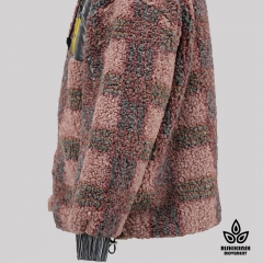 Teddy Check Hooded Coat
