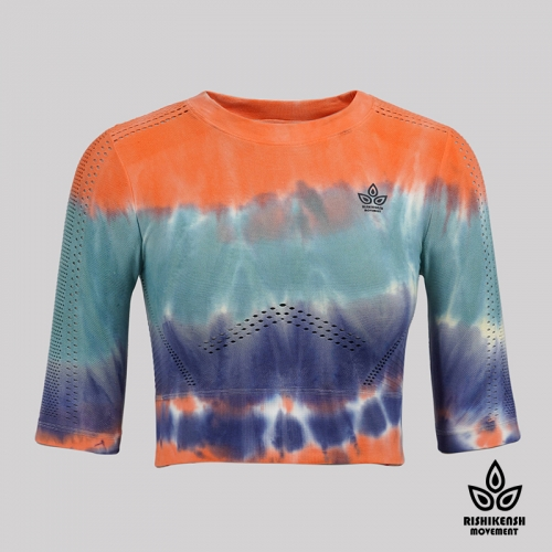Oshyo Tie-Dyed Multiple Color Layers Stretchy Top